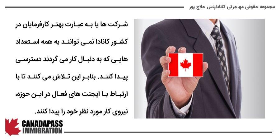 استفاده از شرکت های کاریابی در کانادا